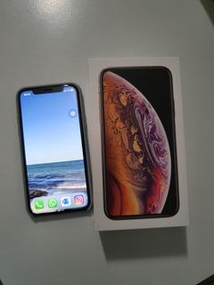 iPhone XS Apple 64 Gb Dourado Nf E Garantia Até Out/20