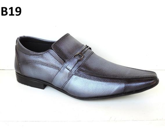 1 Sapato Promoçao Masculino Social Couro Bico Fino Vários