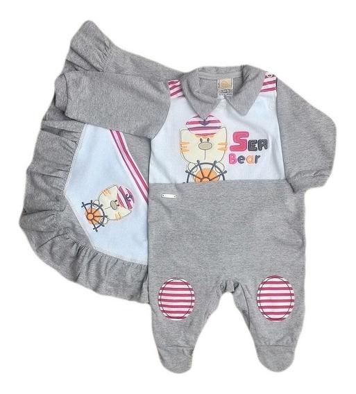 Saída Maternidade Kit 2 Peças Algodão Masculino Menino Bebê