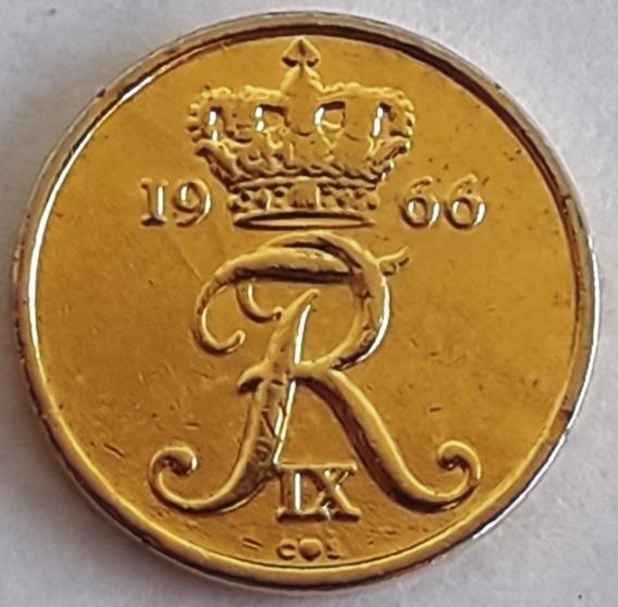 Moneda Bañada En Oro Dinamarca Año 1966 C/cápsula Inversión