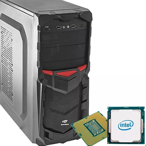 Pc Cpu Intel Hd 500 4gb Ram Gabinete Gamer Novo..