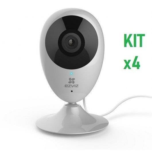 Camara Ip Ezviz C2c 1mp Wifi Cs-cv206-c0-1a1wfr Kitx4