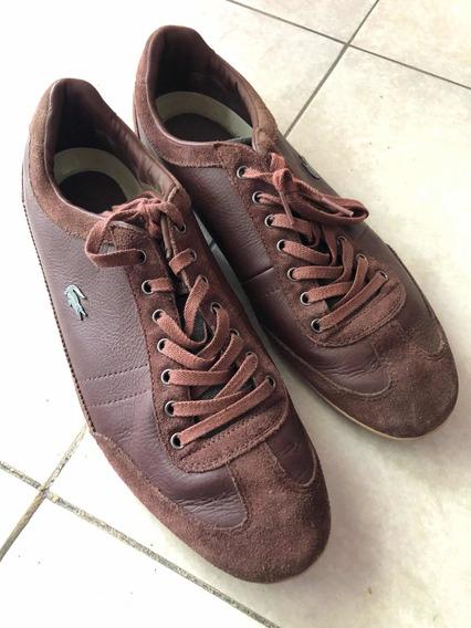 Zapatillas Lacoste Hombre Color Marrón