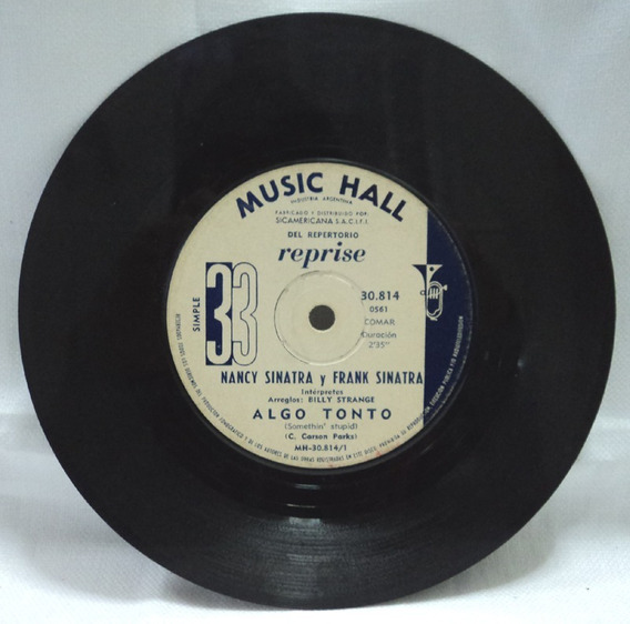 Frank Sinatra Nancy Disco Simple Esperare Por Ti Algo Tonto