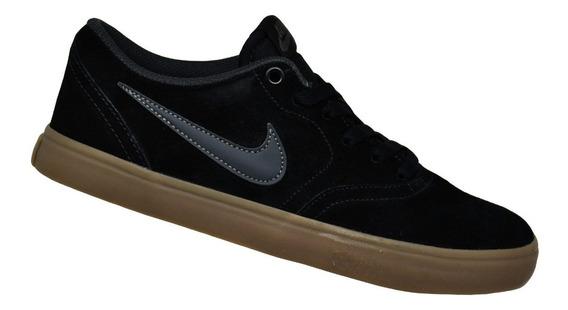 Tênis Masculino Nike Sb Check Solar - Preto/marrom