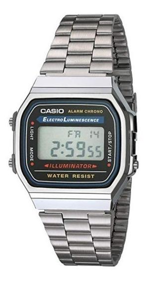 Casio A168wa-1yes Reloj Unisex Cuadrado, Digital, Color Gris