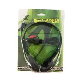 Fone De Ouvido Headset Preto Estereo P2