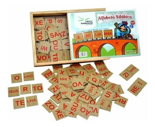 Jogo Pedagógico Alfabeto Silábico 160 Peças