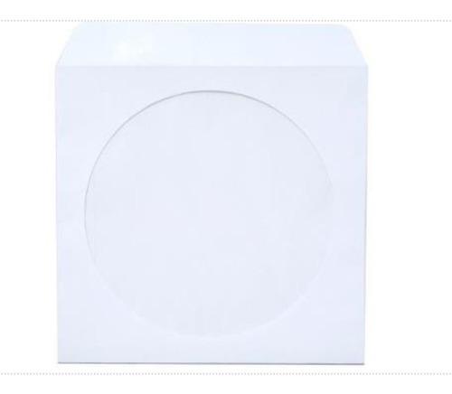 1000  Envelopes Brancos Cd - Dvd Com Janela Transparente