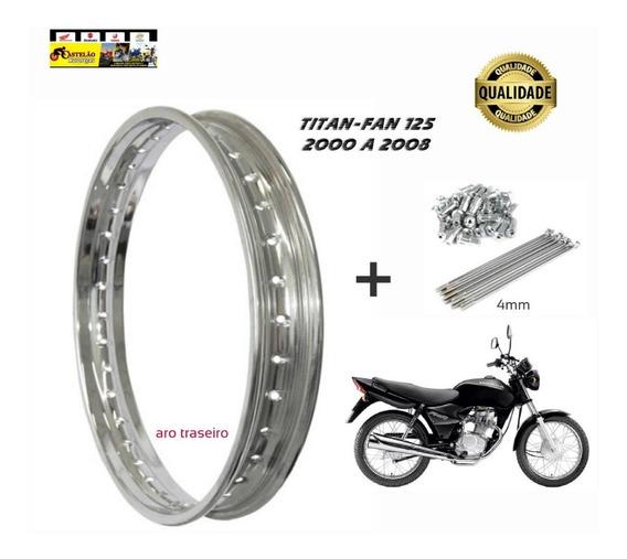 Aro Roda Traseiro Moto Titan-fan 125 + Jg Raios 4mm