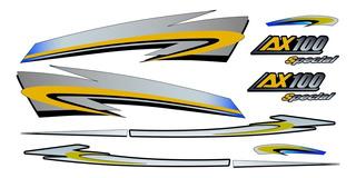 Suzuki Ax-100 Kit Calcomanias Hd Plastificadas
