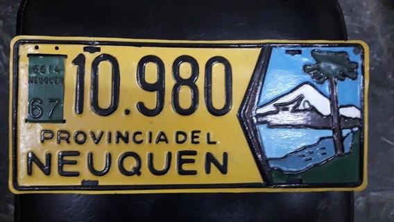 Patente Muy Antigua De Neuquen, Excelente Estado