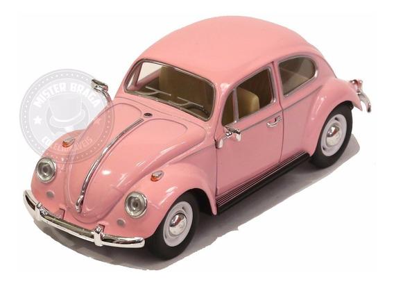 Miniatura Volks Fusca Clássico 1967 Rosa 1/24