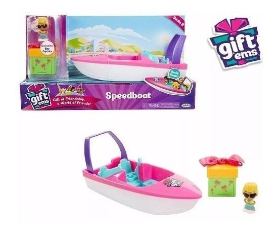 Gift Ems - Set Barco Lancha Muñecas Sorpresa