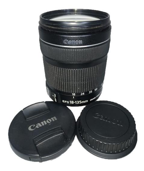 Lente Canon 18-135mm Efs Stm Stabilizer Semi Nova Impecável