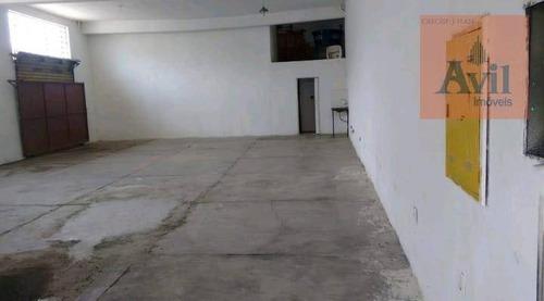 Galpão Para Alugar, 180 M² Por R$ 3.500,00/mês - Brás - São Paulo/sp - Ga0185