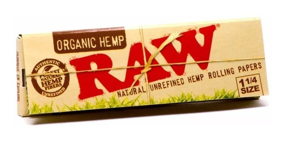 Papel Sedas Raw Organic 1 1/4 Pack X 5 Organicas
