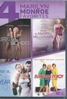 Marilyn Monroe. Paquete De 4 Peliculas Dvd. Nuevas