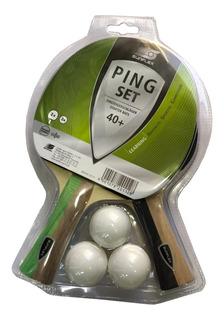 Combo Set Kit Sunflex 2 Paletas Ping Pong + 3 Pelotas