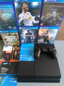 Playstation 4 Ps4 500gb Controle E Jogos Na Caixa Barato