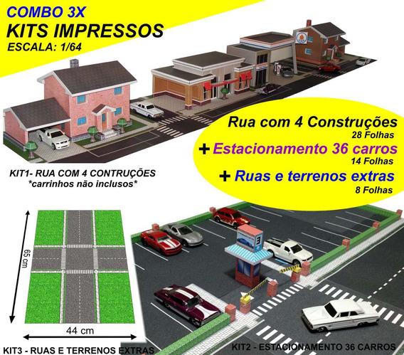 Envio Gratis Correios 3 Kits Maquete Cidade+estaciona+extras