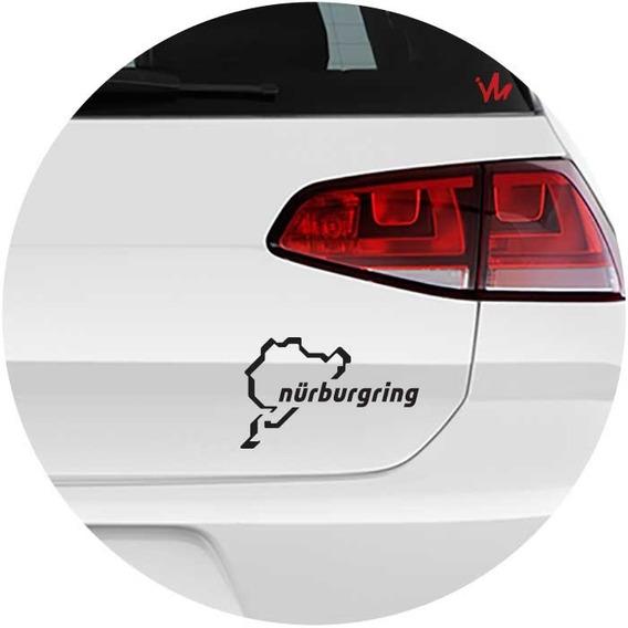 Kit 2 Adesivos Nurburgring Circuito Pista Carro Moto