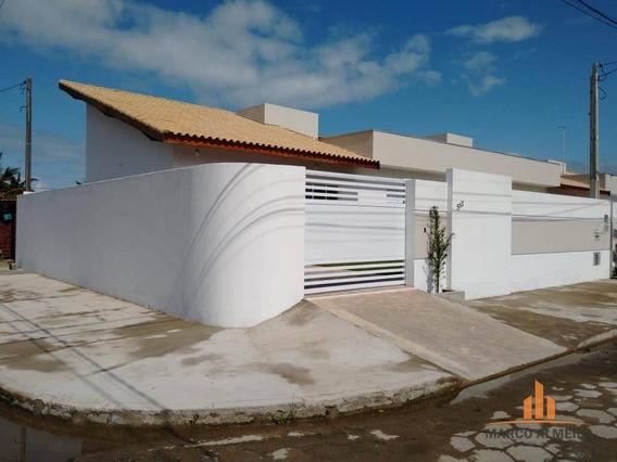 Casa Com 2 Dormitórios À Venda, 71 M² Por R$ 254.000 - Estância Balneária De Itanhaém - Itanhaém/sp - Ca0254