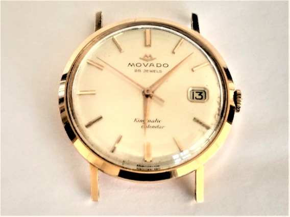Relógio Ouro 18 K 750 Movado Kingmatic Calendar Anos 50