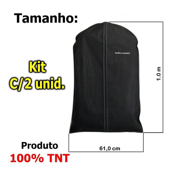 Capa Protetora P/terno, Camisas,roupas Zíper 100%tnt Kit 2