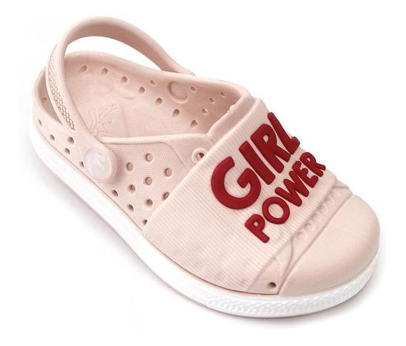 Babuche Plugt Joy Kids Girl Power Infantil - Rosa/vermelho