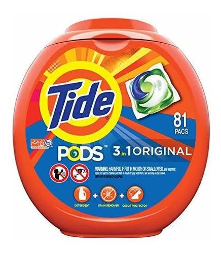 Tide Pods 3 En 1 He Turbo Detergente Pacs, Olor Original, 81