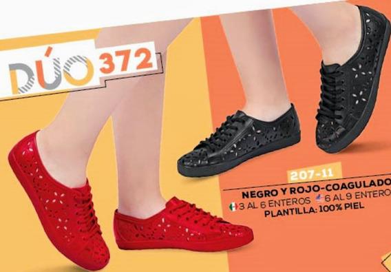 Zapato Dama Dúo Pack (negro Y Rojo) Mod. 207-11 Cklass Oi