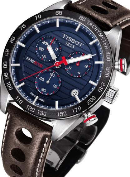 Relógio Tissot Prs 516 Novo Modelo T1004171604100 Azul Marro