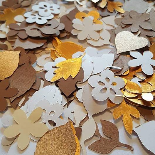 Confettis Troquelados Personalizados Opaco + Dorado/plata