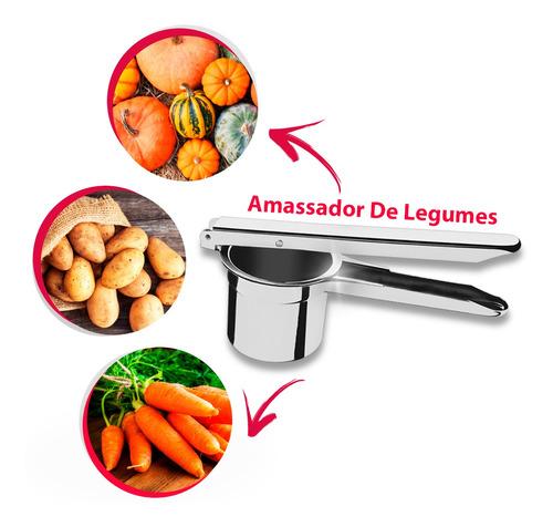 Espremedor Amassador Batata Purê Aço Inox Original Classic