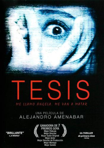 Tesis Alejandro Amenabar Pelicula Original Dvd