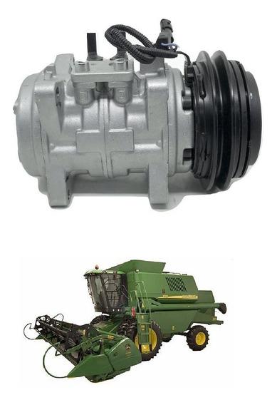 Compressor Ar Cond Colheitadeira John Deere 1450 1550 10p15