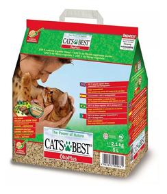 Areia Sanitária Cat´s Best Oko Plus - Cats Best 17,2 Kg