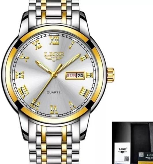 Relógio Masculino Lige Original Barato Quartzo Luxo C.121