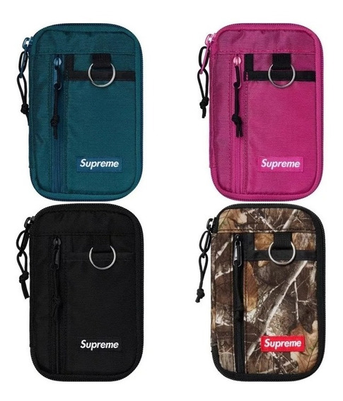 Supreme Small Zip Pouch 100% Original Con Bolsa Y Sticker