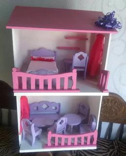 Casa De Muñeca De Mdf Especial Para Barbie