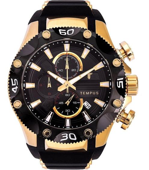 Relógio Masculino Tempus Zw30330u Race Gold Black