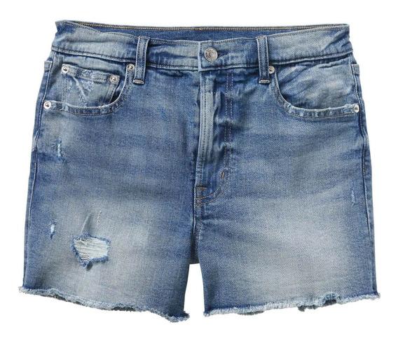 Short Gap De Jean Elastizado De Mujer