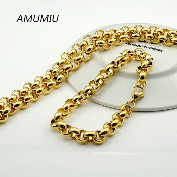 Colar + Pulseira, Kit Promocional, Folheado 3 Camadas Ouro