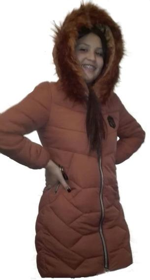 Parka Larga Mujer Chaqueta (frio Y Agua)