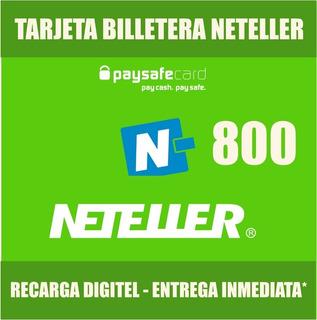 Tarjeta Billetera Neteller 800 - Stock Permanente!