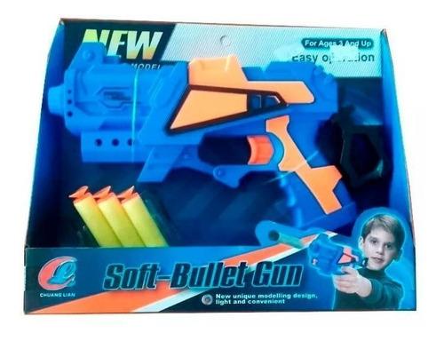 Pistola De Juguete 24 Cm Balas De Goma Nene 3 Dardos