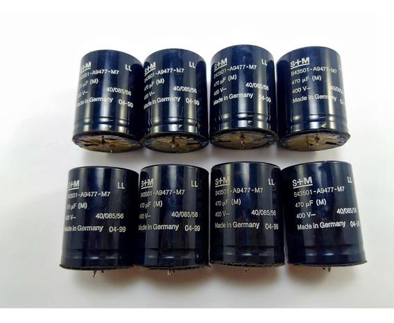 Kit 8 Capacitor Eletrolítico S+m 470uf 400v B43501