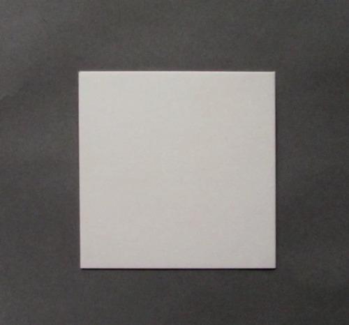 Imagen 1 de 1 de Base Cuadrada Plastif. Ppm Blanco Mate 10x10cm (x200u) - 120