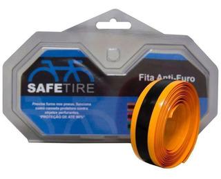 Fita Anti-furo Safetire 23mm Laranja - Aro 700 - Par